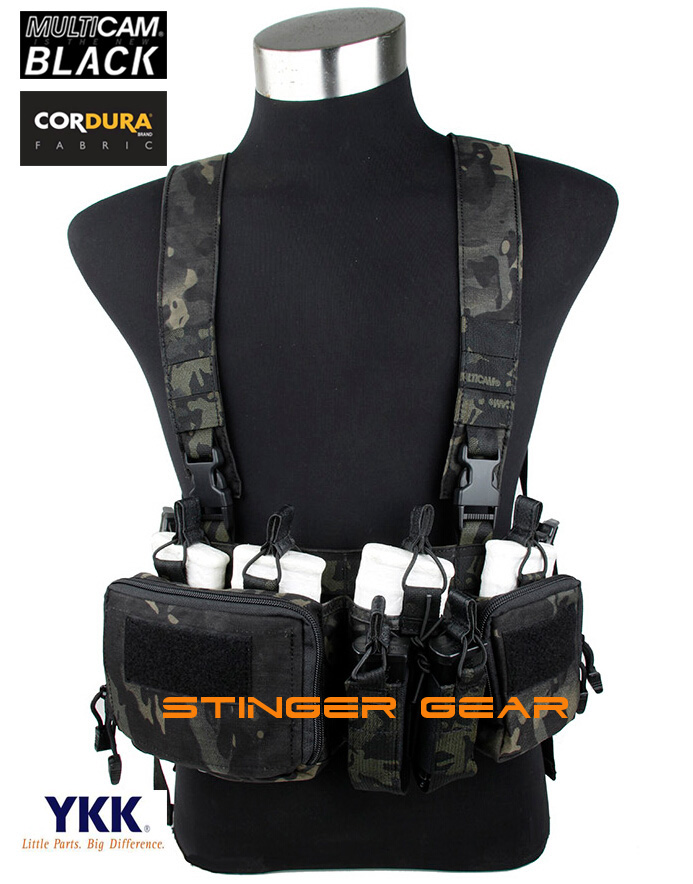 TMC 7.62 Chest Rig Multicam Black Airsoft Military Tactical Strategic Chest Rig+Free shipping(SKU12050821) tactical strategic d mittsu chest rig airsoft military combat gear khaki free shipping stg050940