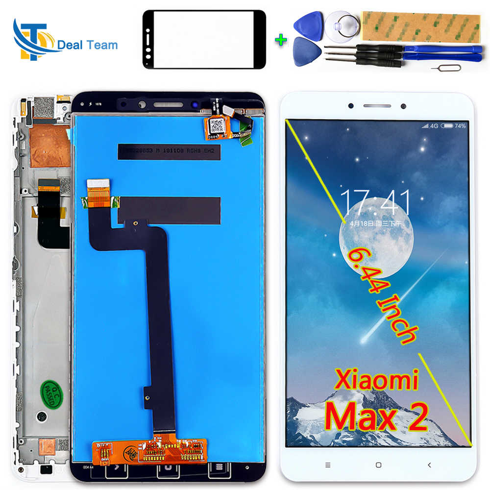 AAA quality 6.44 inch LCD Display For Xiaomi Mi Max 2 Touch Screen 1920*1080 Digitizer Assembly Frame With Free tools Glassfilms
