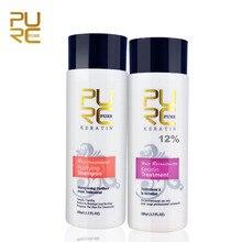 2pcs a set PURC 12% 100ml Formalin Keratin Repair Damaged Hair Make Smoothing And Shine Straight Treatment P13