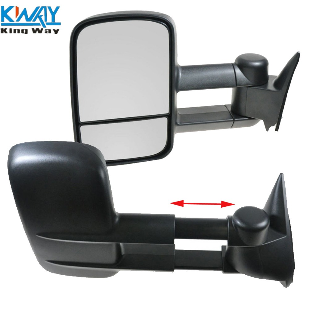 Towing manual side view mirrors left right pair for 88 98 chevy gmc truck new