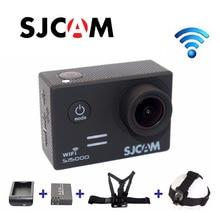 Free Shipping!! Portable original SJCAM SJ5000WiFi Sports Action Waterproof Camera Light Chest Body Headband Belt