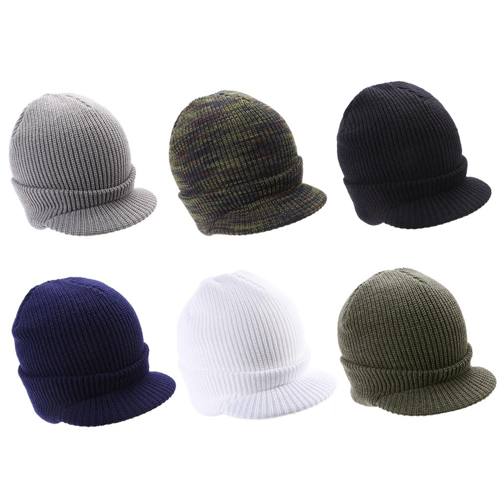 Army Design Hat Winter Cap Ins Hot Unisex Cotton Blends Solid Warm Knitted Hats 2018 Hot Casual   Beanies   6 Colors