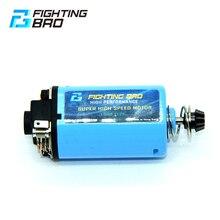 Fightingbro motor de velocidade máxima tipo curto alto torque forte ímã para airsoft acessórios paintball aeg m4 ak