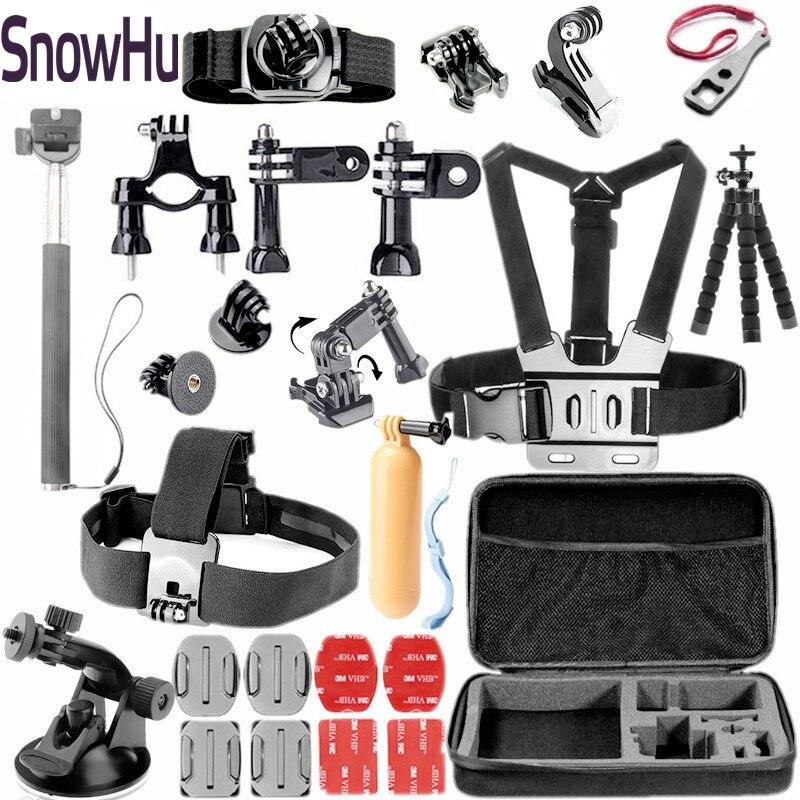 """""""Snowhu"""" skirtas """"Gopro"""" priedams Komplektų rinkinys """"Adapter mount"""" monopodas """"Go pro"""" herojui 7 6 5 4 3 """"Xiaomi"""" Yi 4K SJ4000 kamerai GS45"""