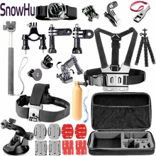 Gopro Accessories Case Monopod Tripod Float Bobber Chest head strap Go pro 3 Hero 4 Xiaomi yi Camera GS45