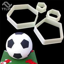 Ttlife Футбольная форма многоугольная Пластиковая для выпечки