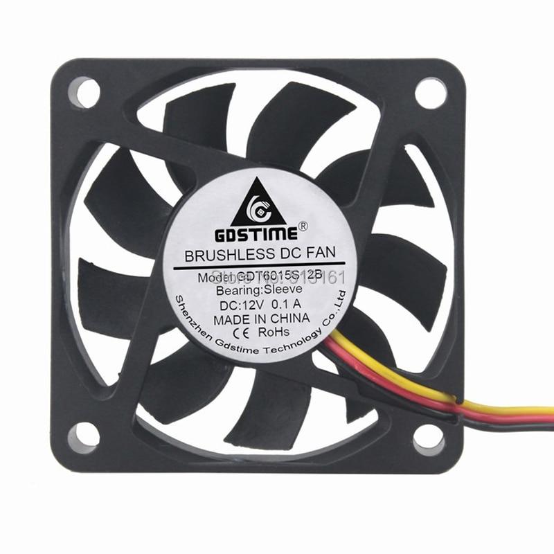 Купить 5 шт gdstime dc 12 в 3pin 60 мм 60x60x15 охлаждающий вентилятор