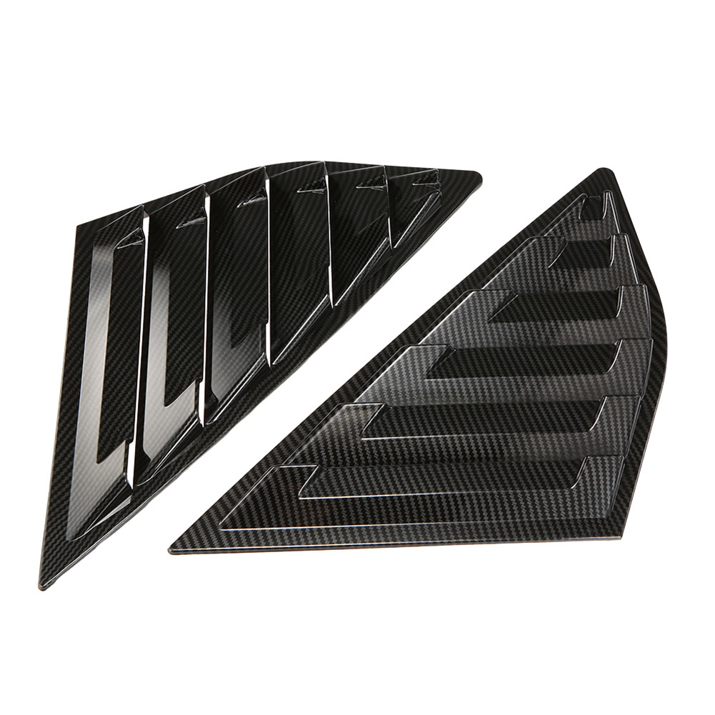 Image 3 - 2019 Hot 1 Pair Side Louvers Vent Hatchback Carbon Fiber ABS Window for Ford Focus ST RS MK3 JLD Peugeot-in Windshields from Automobiles & Motorcycles