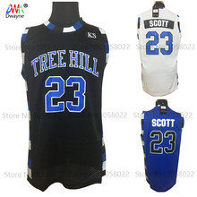 2017 Dwayne Mens Cheap throwback basketball Jerseys #23 Nathan Scott One Jersey Tree Hill Movie Stitched Basketball Shirt