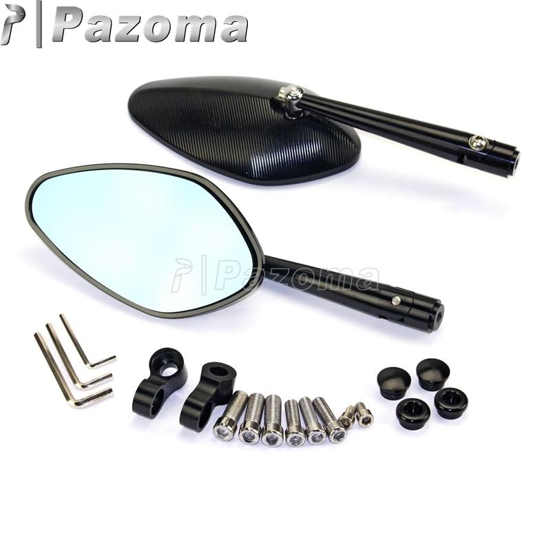 PAZOMA 2x Schwarz Motorrad CNC Rearview außenspiegel Universal Hochwertigem Aluminium