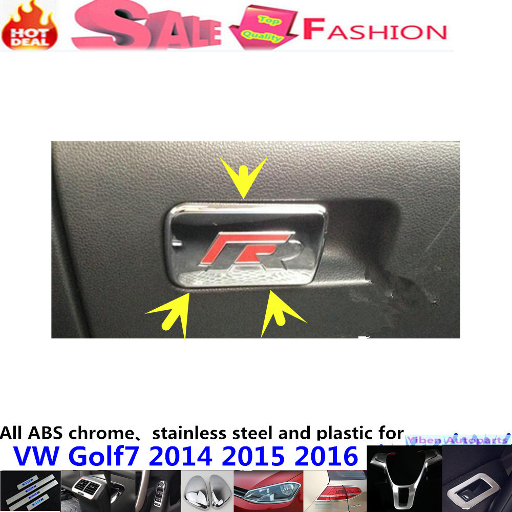 Vw leather driving gloves - Car Garnish Cover Inner Trim Handle Abs Chrome Glove Co Driver Container Switch Storage Box