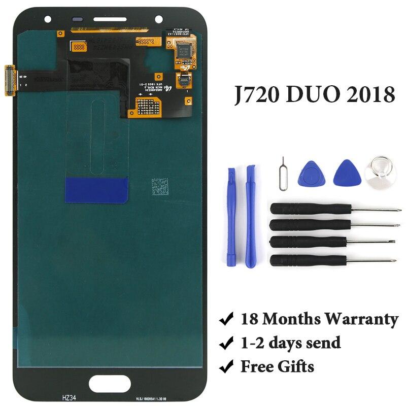 Pour Samsung Galaxy J7 Duo 2018 J720 J720F J720M écran LCD avec écran tactile numériseur assemblée pour SAMSUNG J720 LCD