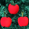 12pcs/bag Christmas decoration gifts Red apple pendant Christmas tree decorations Gift wrapping ornaments Christmas supplies 1