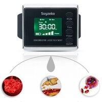2 цвета 650nm лазерная терапия массаж наручные лазерный диод часы полупроводниковые диабет лазера синусит терапевтический аппарат