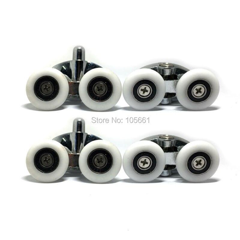 set-of-4-new-oval-metal-alloy-double-wheel-shower-door-rollers-23mm