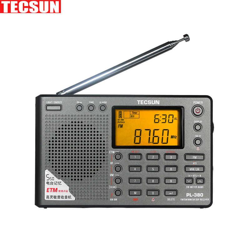 Tecsun PL-380 PL380 ラジオデジタル PLL ポータブルラジオ FM ステレオ/LW/SW/MW DSP 受信機ラジオ