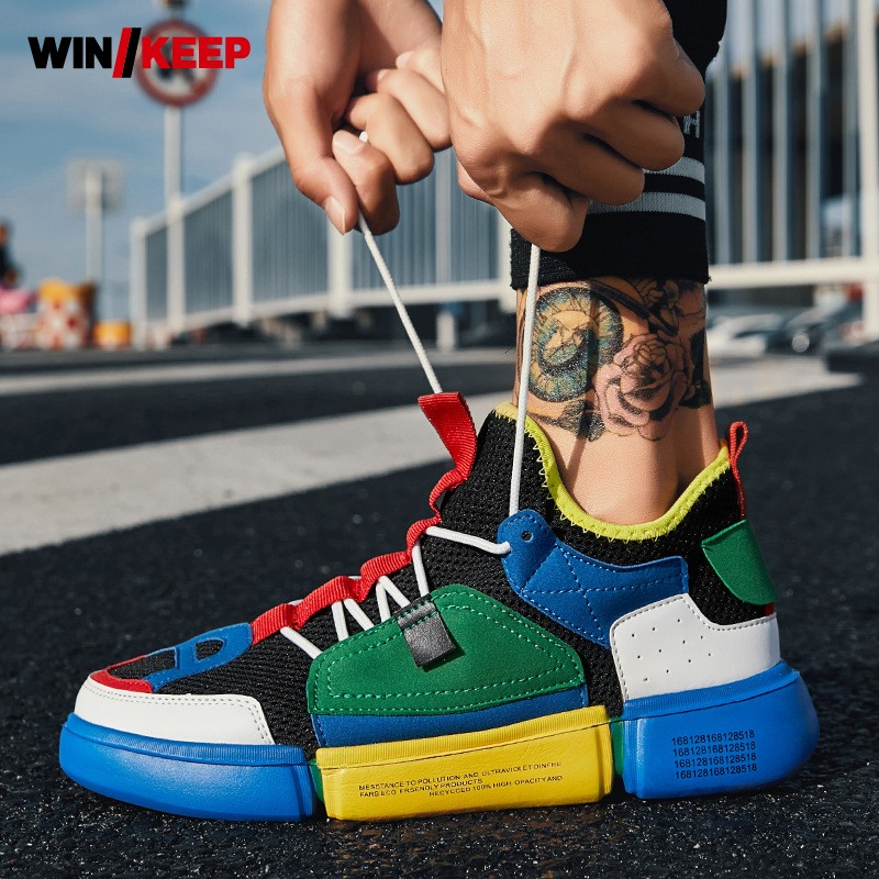 Mens Shoes Summer Mixed Color Breathable Running Shoes Sports Male Outdoor Retro Designer Sneakers Zapatos Deportivos Hombre