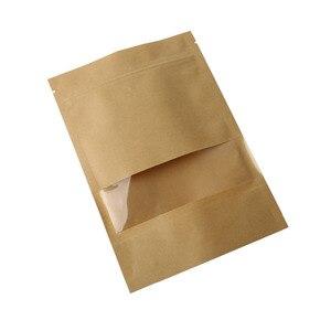 Image 5 - 10pcs חום קראפט נייר מתנות סוכריות שקיות חתונה אריזת תיק למחזור מזון לחם מסיבת קניות שקיות בוטיק Zip מנעול