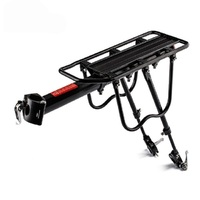 Bicycle Luggage Rack 50kg Capacity 20 29inch Full Quick Release Rack with Reflector Aluminum Alloy Bicycle Seatpost Bag Rack