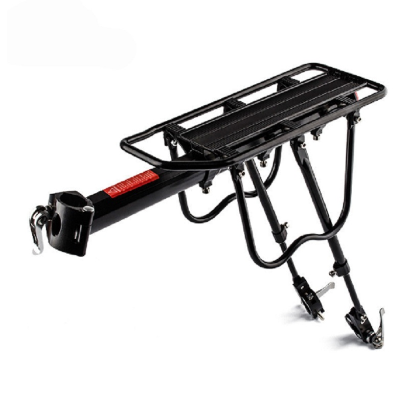 Bike Rack Bicycle Cargo Rack  Luggage Rear Carrier Trunk for Bicycle Seatpost Alloy20-29 inch Capacity 50KG