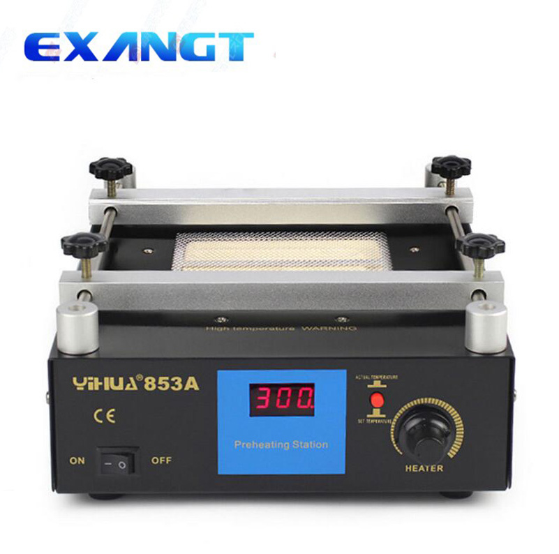 IHUA 853A Digital Display Preheating Station Anti Static Constant Temperature BGA Rework Station Mobile Phone Preheater