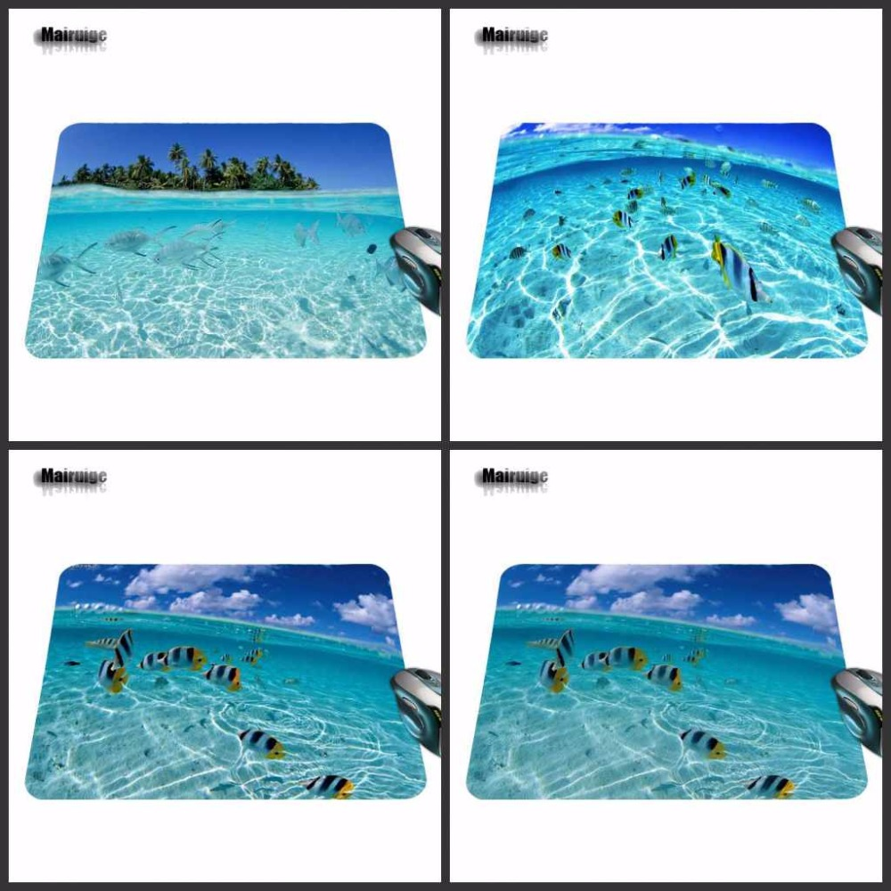 Mairuige 2017 Hot Sell Print Anti-slip Durable New Arrival Fashion Fish In Clear Computer Gaming Mouse Pad Gamer Play Mats