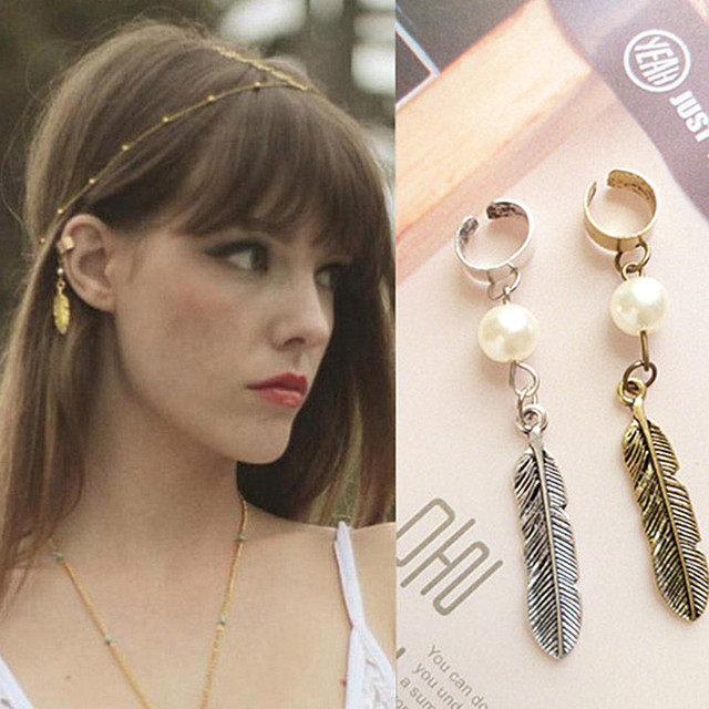 ES247  Hot New Design Wholesale Fashion Leafage Ear Cuff Earring clip Jewelry! AAA!