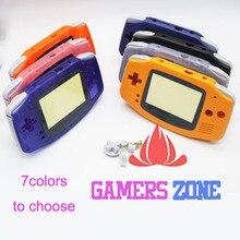 การเปลี่ยนชิ้นส่วนอะไหล่เปลือกสำหรับ Nintendo Game Boy Advance GBA สีฟ้าใส