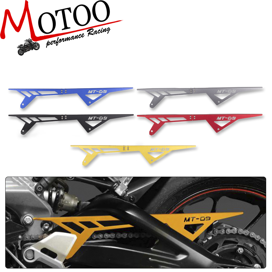 Motoo - free shipping  Motorcycle For Yamaha MT-09 FZ-09 2013 2014 2015 2016 CNC Aluminum Chain Guards Cover Protector motoo for yamaha mt07 mt 07 2013 2017 fz07 2015 2016 2017 cnc aluminum rear tire hugger fender mudguard chain guard cover