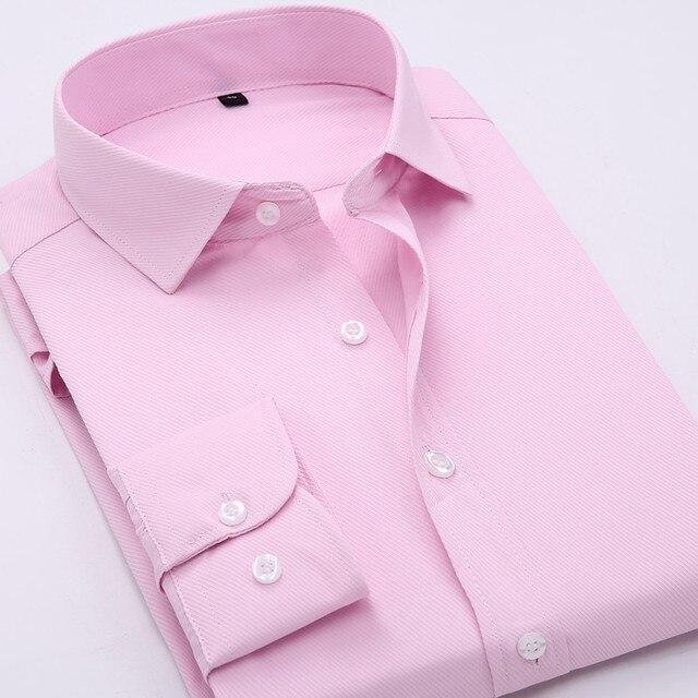 2016 Новый Формальный Бизнес-Рубашки Модный Бренд Мужской Одежды Тонкий Мужчины с длинным Рукавом Рубашки Мужчин Случайные люди Рубашки Социальной Плюс Размер MT130