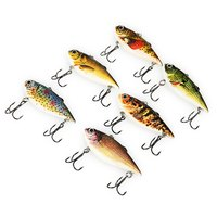 6 Pcs Colors Outdoor Fishing Lures Bait Top Quality ABS 3D Eyes Fishing Lures With 2