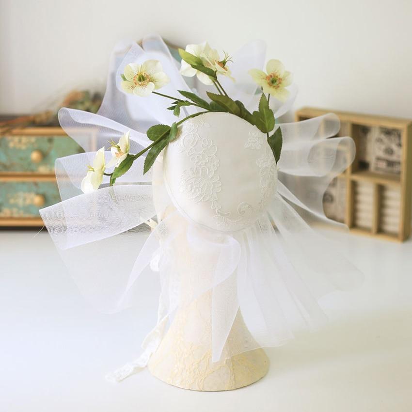 Xinyun New Korean Fairy Flower Wedding Hat Bride Wedding Accessories For Hair Fascinators For Women Elegant Beautiful Girl Hat