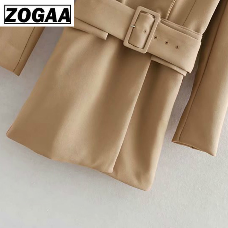 2019 Spring Belt With Women's Women's Suit Jacket Ladies Blazer Casual Long Coats 2019 Woman Clothes Office Blazer For Work