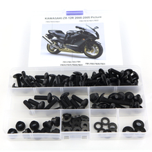 For Kawasaki ZX12R ZX-12R 2000 2001 2002 2003 2004 2005 Complete Fairing Bolts Kit Motorcycle Cowling Full Fairing Kit Nut Steel full fairing kits red black zzr 1100 90 93 94 95 96 97 98 99 00 01 full fairing kits for kawasaki zzr1100 zx1100 1990 2001