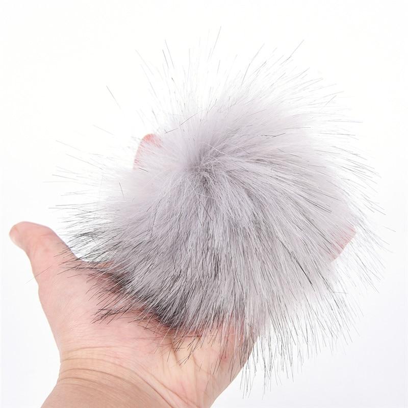 5d9cfd4408 DIY Faux Fur Pom Poms Keychain 10cm 3.9inch Fluffy Pom Pom Ball With Elastic