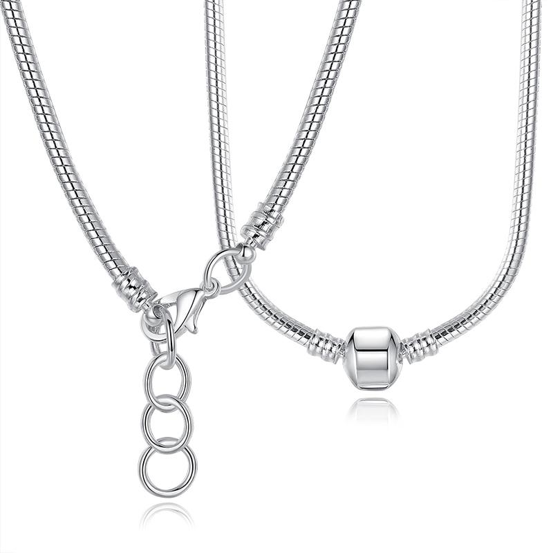 eb25e0aef4b85 authentic pandora long silver necklace cfcef a938d