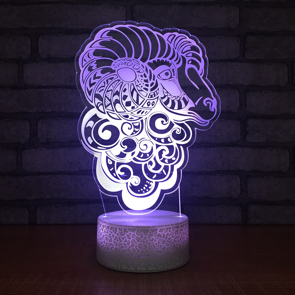 Creative Acrylic ABS Base LED 3D Novelty Lighting 2019 New Animal Design Touch Sensor Novelty Lamp Holiday Lights Gifts For Kids