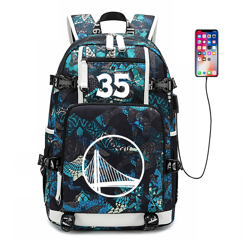 USA Basketball Star  Kevin Durant Backpack  Luminous school bag Boy Girl Large Capacity School Bags shoulder laptop backpackUSA Basketball Star  Kevin Durant Backpack  Luminous school bag Boy Girl Large Capacity School Bags shoulder laptop backpack