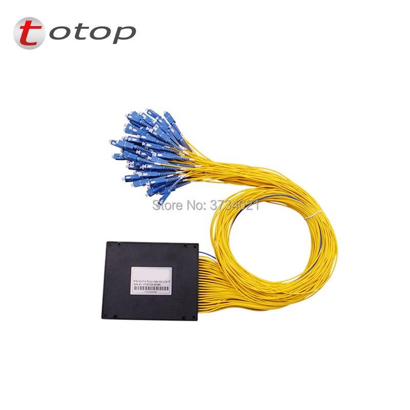 SC UPC PLC 1X64 Single mode LC fiber optic splitter 1x64 SC UPC plc splitter/ 1x64 plc Fiber splitter FBT Optical Couple