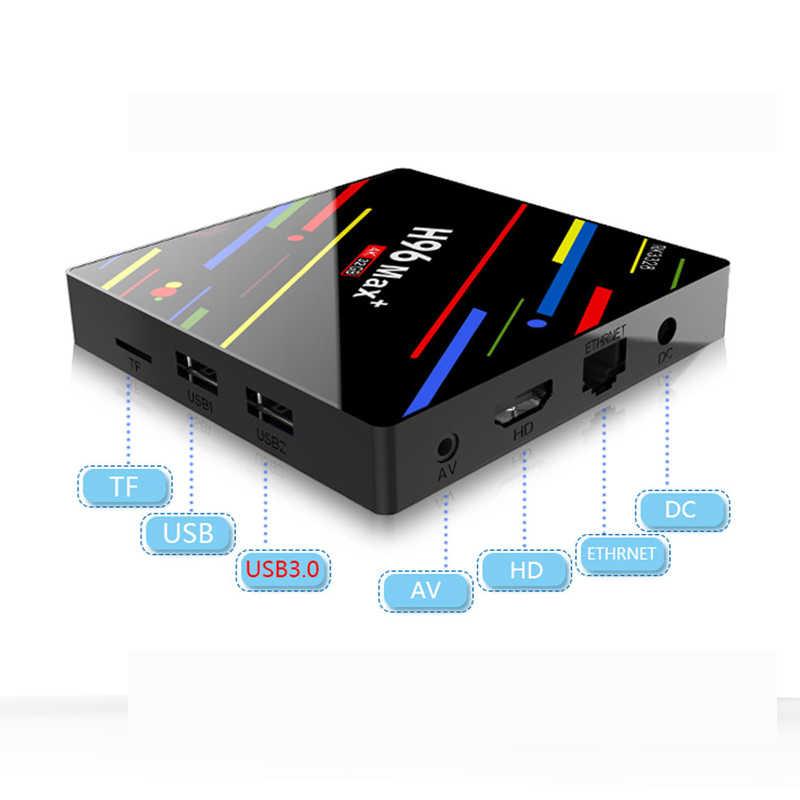 H96 MAX Plus Android 8.1 smart TV Box  Set Top Box RK3328 4GRAM  32G/ 64G ROM   Wifi 4 k H.265 3 gb 32 gb Mediaspeler pk h96 pro