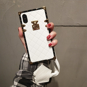 Image 3 - Aoweziic 高級ブランド革ケース iphone 11 プロマックス xr xs 最大電話ケースバックカバー 6s 7 8 プラス PU ソフトシェルとストラップ