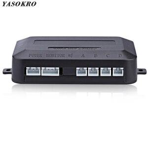 Автомобильный парктроник YASOKRO, светодиодный контроллер датчика парковки, дисплей с подсветкой, монитор радара заднего хода, детектор систе...