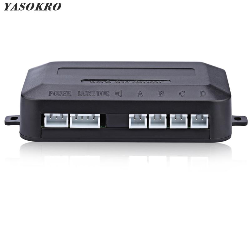 YASOKRO Auto Parktronic LED Parkplatz Sensor Controller Hintergrundbeleuchtung Display Reverse Backup Radar Monitor Detektor System Host 12 V-24 V
