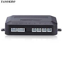 YASOKRO Parktronic Dell'automobile Del Sensore di Parcheggio del LED Controller di Retroilluminazione del Display Radar di Inverso di Backup Monitor Detector Host del Sistema di 12 V-24 V