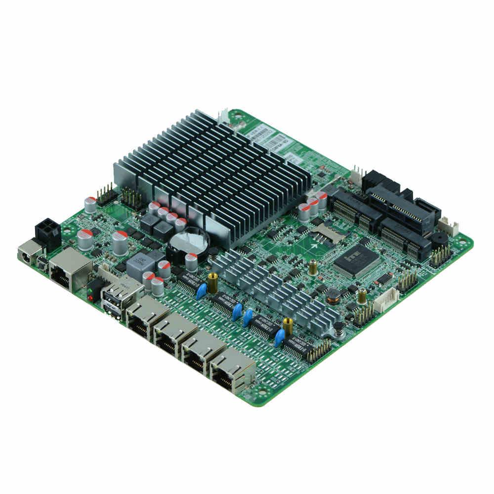 VER1.1 J1900 M9F multi network port soft routing board hardware firewall