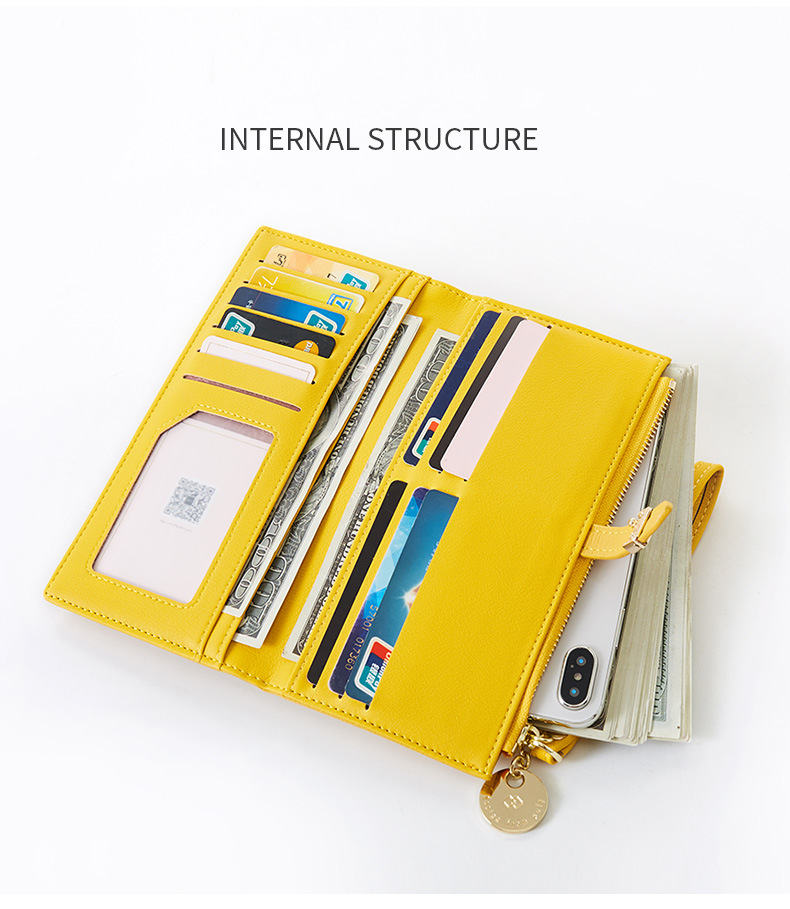 Women Long Wallet Many Departments Female Wallets Clutch Lady Purse Zipper Phone Pocket Card Holder Ladies Carteras 40