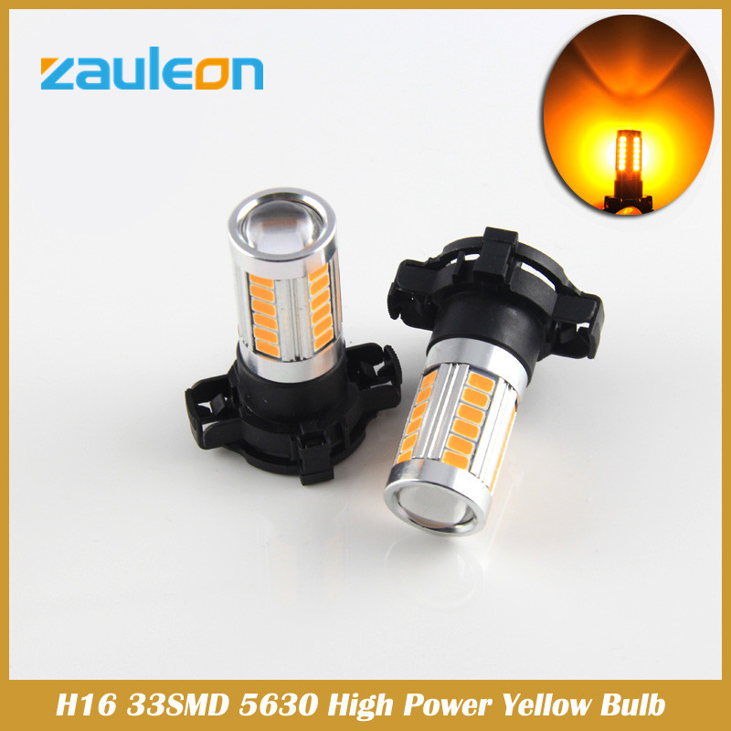 H16 5202 Yellow LED Fog Light Lamp Bulb Bright Driving car styling for vw passat b7