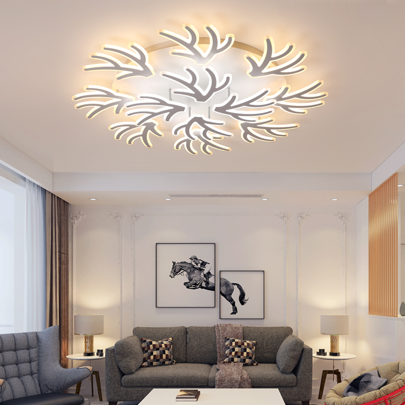 New Creative White Modern Led Ceiling Lighting For Living Room Bedroom Indoor Ceiling Luminarias Para Sala Elegant lamp Fixtures