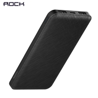 ROCK Slim 10000 MAh Power Bank Portable Powerbank Battery Power Bank 10000mah With LED Light For