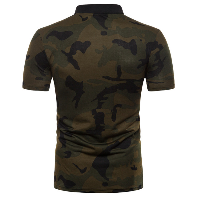 2019 mode Neue Sommer Camouflage Herren Polo Hemd Outdoor Sport 2 Farben 5 Größen